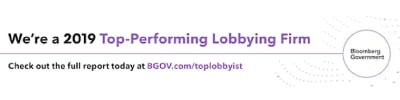 2019 Bloomberg Government Top Performing Firm